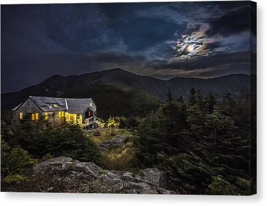 Full Moon Over Greenleaf Hut Canvas Print