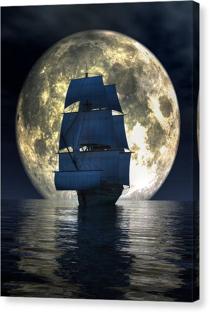 Full Moon Pirates Canvas Print