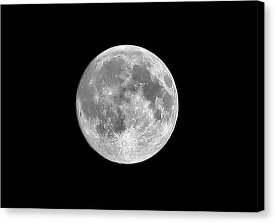 Moon Canvas Print - Full Moon by Richard Newstead