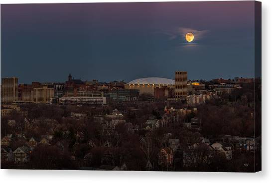 Syracuse University Canvas Print - Full Moon Rising by Everet Regal