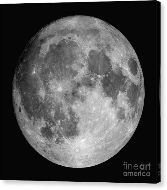 Satellite Canvas Print - Full Moon by Roth Ritter