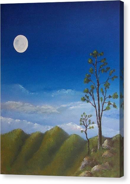 Full Moon Canvas Print by Tony Rodriguez