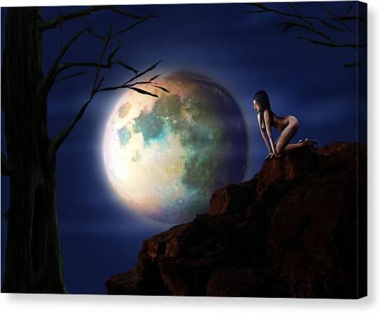 Full Moon Canvas Print