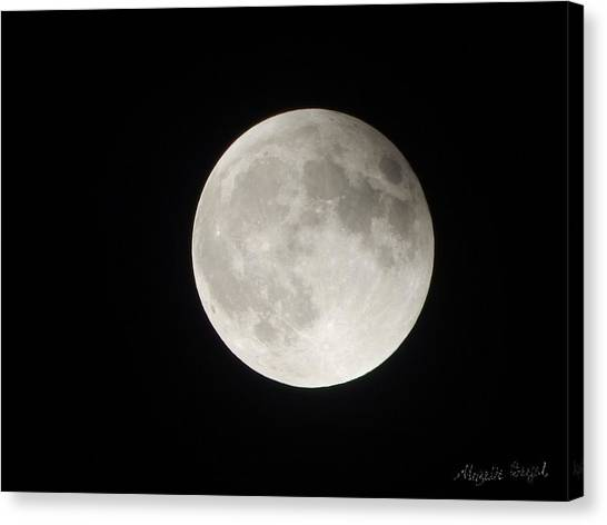Full Planet Moon Canvas Print