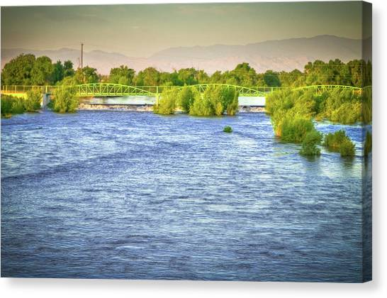Full River Canvas Print by Connie Cooper-Edwards