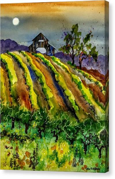 Fullmoon On Westside Canvas Print