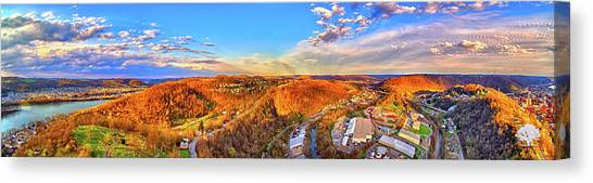 Ohio Valley Canvas Print - Fulton Panorama by Flying Dreams
