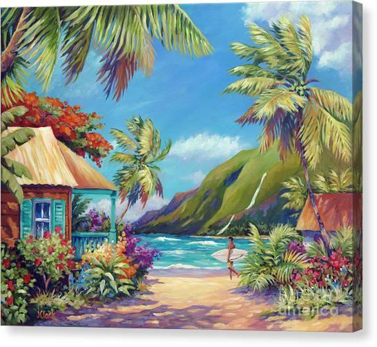 North Shore Canvas Print - Fun Day Ahead by John Clark