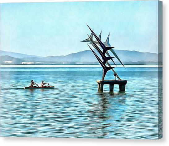 Fun In The Sun At Lago Trasimeno Canvas Print by Dorothy Berry-Lound