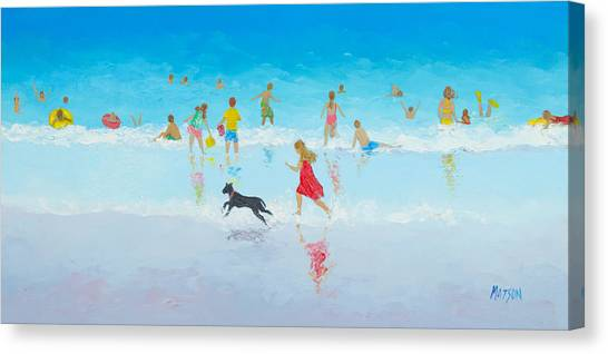 Childrens Room Canvas Print - Fun In The Sun by Jan Matson
