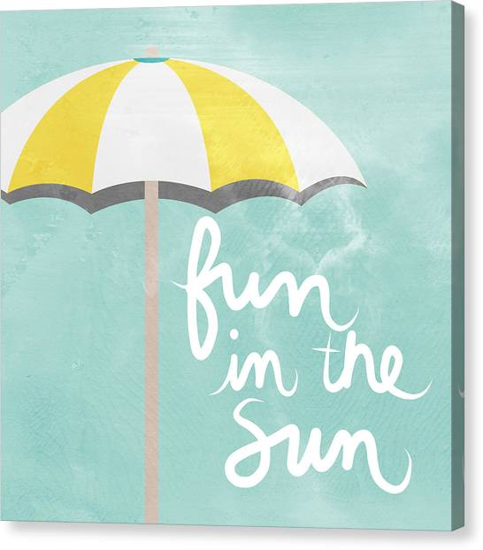 Paradise Canvas Print - Fun In The Sun by Linda Woods