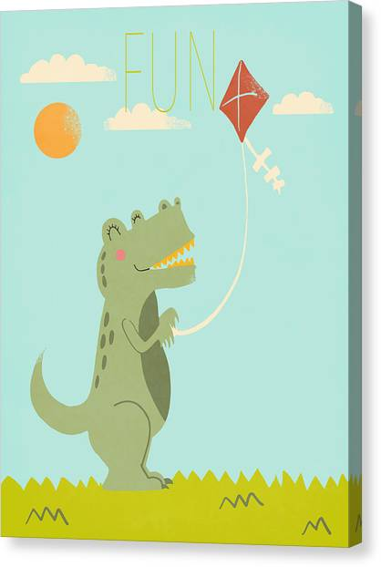 Dinosaurs Canvas Print - Fun by Nicole Wilson