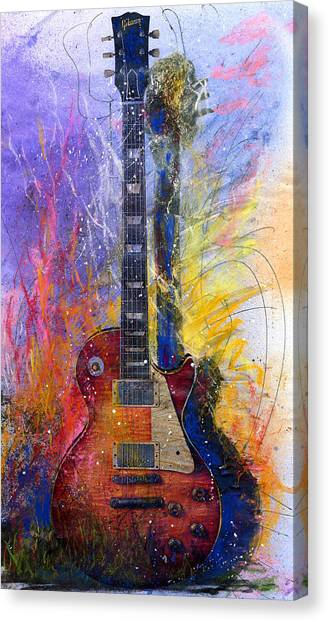 Pastel Canvas Print - Fun With Les by Andrew King