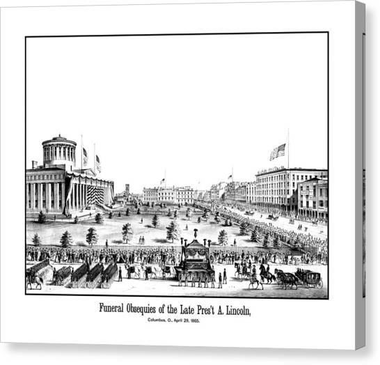 Abraham Lincoln Canvas Print - Funeral Obsequies Of President Lincoln by War Is Hell Store