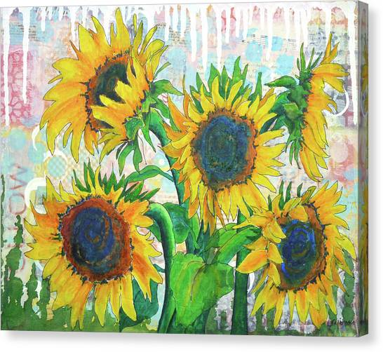 Funflowers Canvas Print