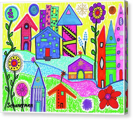 Funky Town 3 Canvas Print