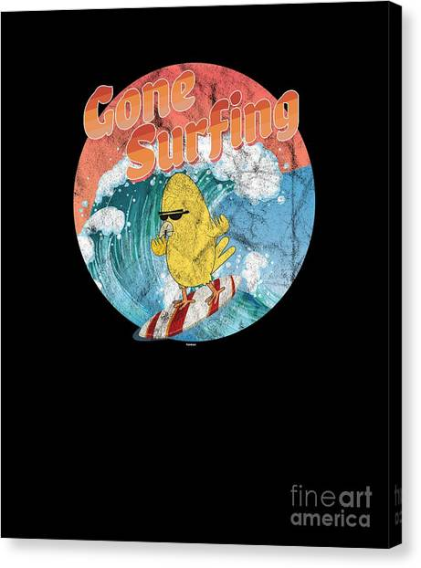 Canvas Print -  Funny Bird Surfer by Thomas Larch