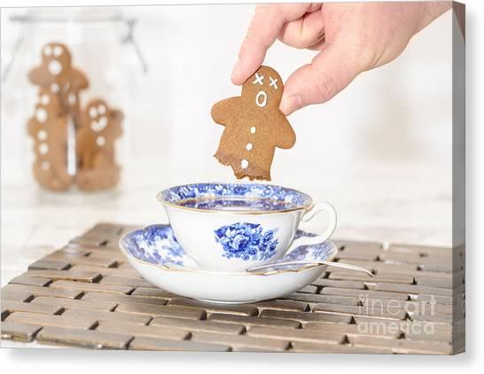Iced Tea Canvas Print - Funny Gingerbread by Amanda Elwell