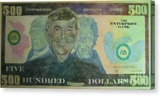 Funny Money Canvas Print