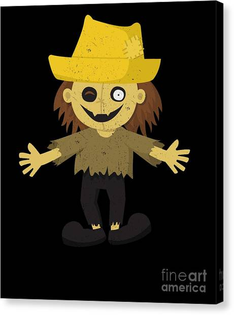 Canvas Print - Funny Scarecrow Halloween Costume by Thomas Larch