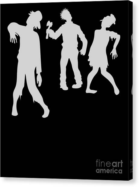 Canvas Print - Funny Zombie Halloween Costume by Thomas Larch