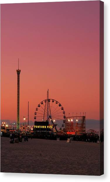 Funtown Pier At Sunset II - Jersey Shore Canvas Print