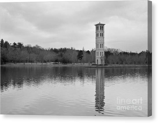 Furman Bell Tower 4 Bw Canvas Print