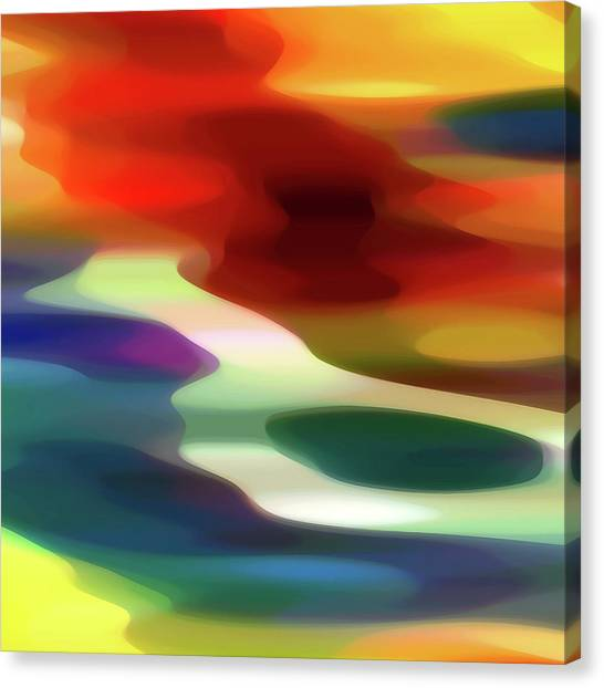Abstract Seascape Canvas Print - Fury 1 B by Amy Vangsgard