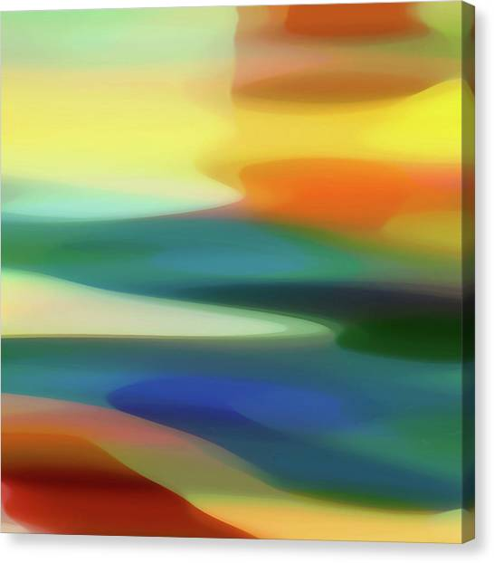 Abstract Seascape Canvas Print - Fury 6 B by Amy Vangsgard
