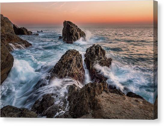 Fury Of The Sea Canvas Print