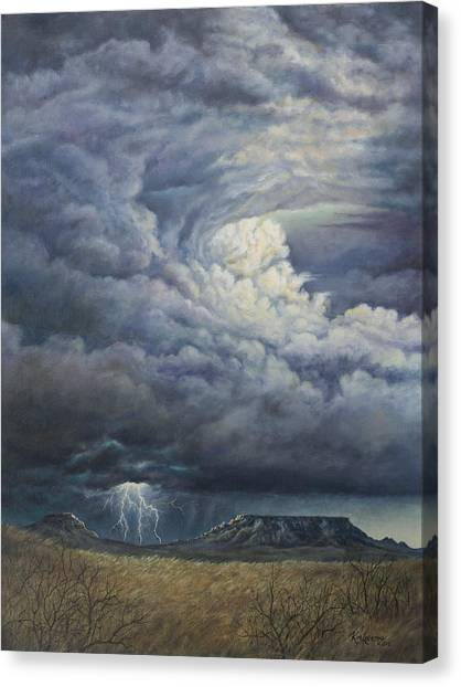 Fury Over Square Butte Canvas Print