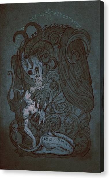 Beast Canvas Print - Fusion by Cambion Art