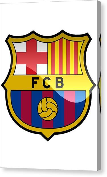 Soccer Teams Canvas Print - Futbol Club Barcelona by David Linhart