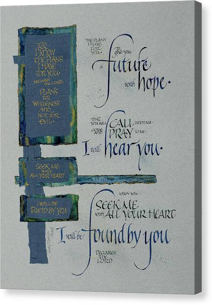 Search Canvas Print - Future Hope II by Judy Dodds