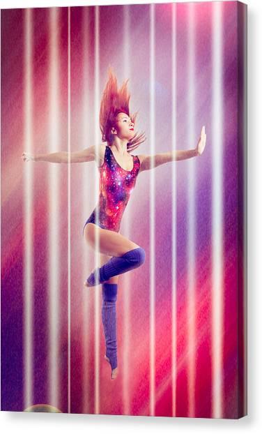 Balance Beam Canvas Print - Future Jump by Nikita Buida