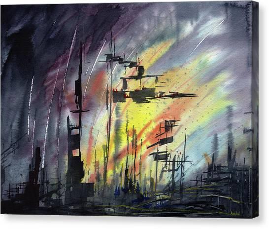 Futuristic Cityscape Canvas Print