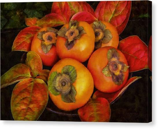 Fuyu Persimmons Canvas Print
