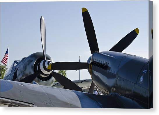 Fw190 And Spitfire Canvas Print