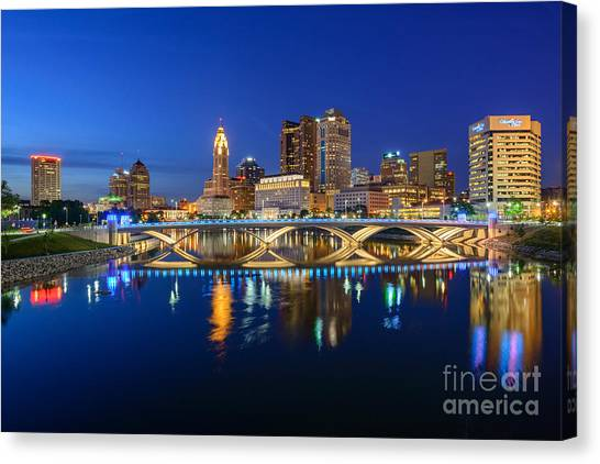 Fx2l531 Columbus Ohio Skyline Photo Canvas Print