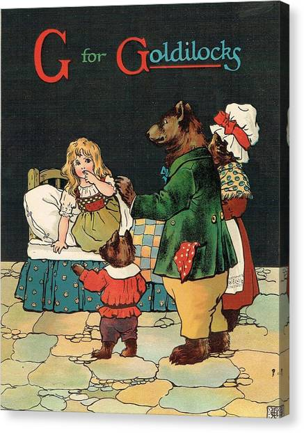 G For Goldilocks Canvas Print