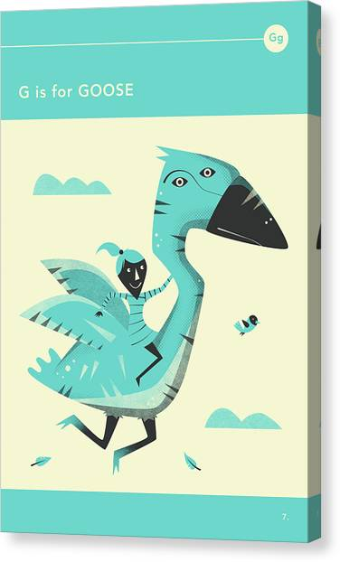 Geese Canvas Print - G Is For Goose by Jazzberry Blue
