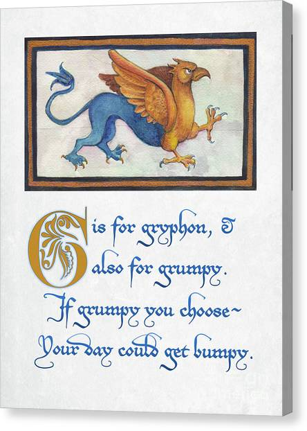G Is For Gryphon Canvas Print