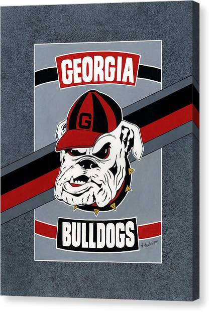 Bulldogs Poster T-shirt Canvas Print