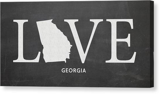 Sun Belt Canvas Print - Ga Love by Nancy Ingersoll