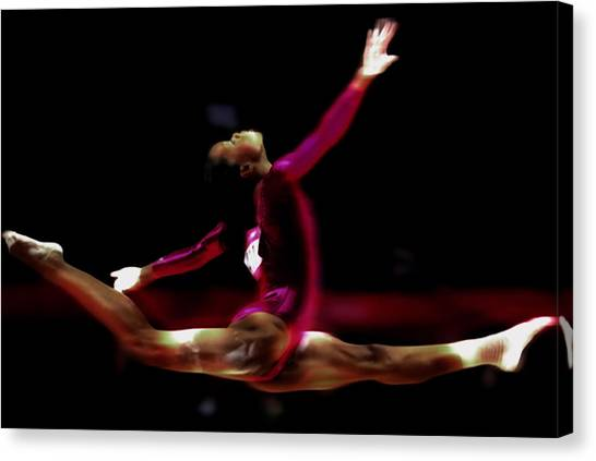 Balance Beam Canvas Print - Gabby Douglas Style And Grace by Brian Reaves