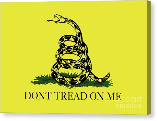 Gadsden Dont Tread On Me Flag Authentic Version Canvas Print