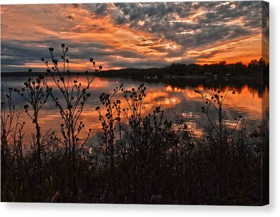 Gainesville Sunset 2386w Canvas Print