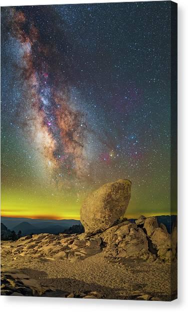 Galactic Erratic Canvas Print
