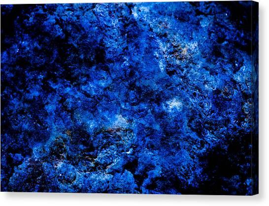 Galactic Night Abstract Canvas Print
