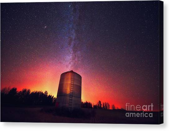 Saskatchewan Canvas Print - Galactic Prairie by Ian McGregor